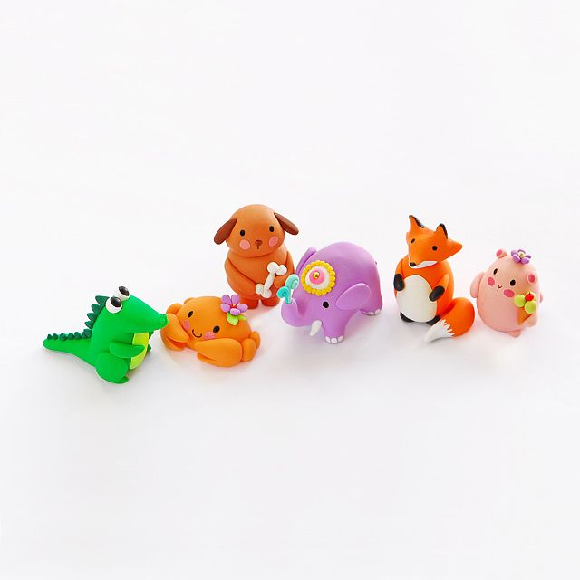 Polymer clay animals fimo personnageporcelaine froidebricolageessayerargile mignon