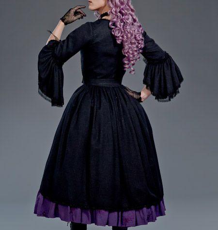 nightfell herbalist jacket with mock corset skirt with