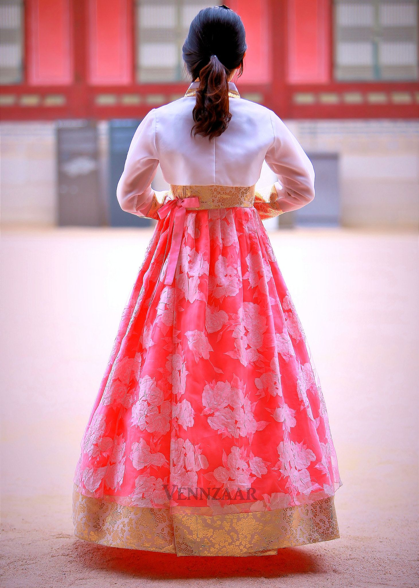 Pink Hanbok Hanbok Hanbok South Korea Or Joseon Ot North Korea Is The Traditional Korean Dress It Is Often Traditional Korean Dress Hanbok Korean Dress