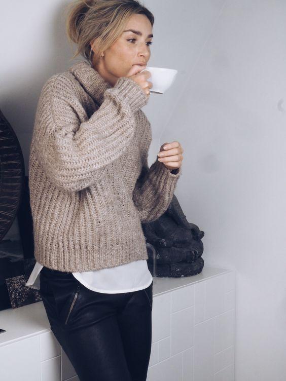 Photo of Wie man einen Pullover mit Leder gestylt: 15 Ideen – Frauen Mode