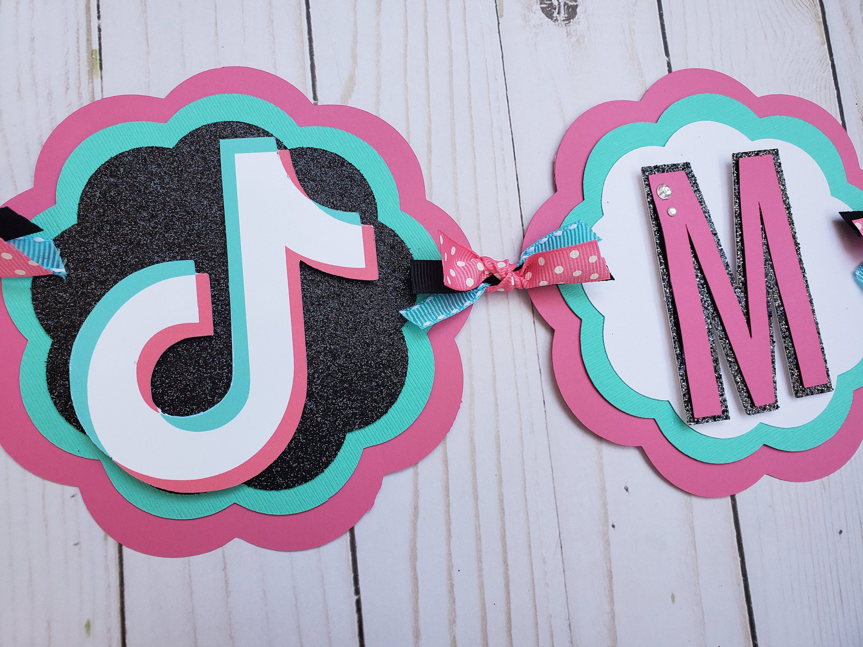 Tik Tok Birthday Banner Tik Tok Sign Tik Tok Birthday Happy Birthday Banner Tik Tok Birthday Deco Happy Birthday Banners Birthday Banner Social Media Party
