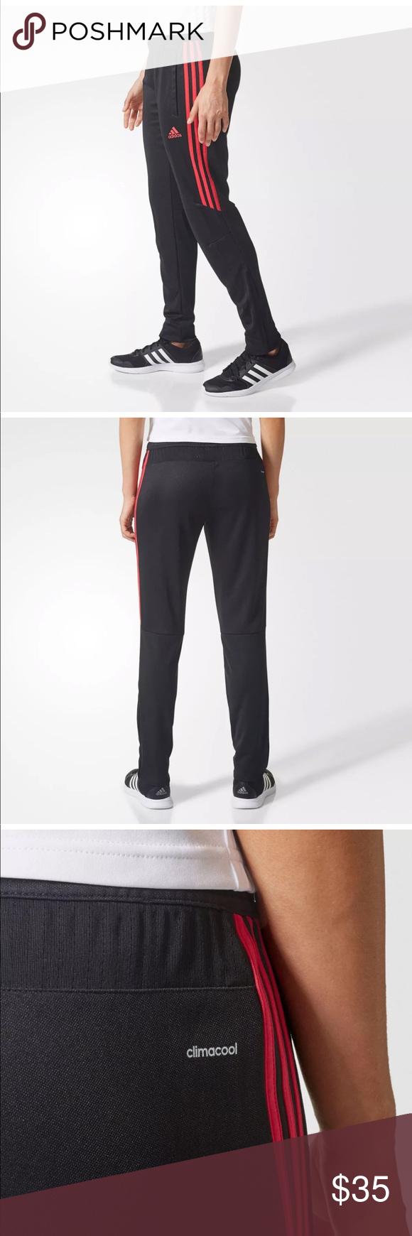 997498919 Womens Adidas Tiro 17 Black Energy Pink [CF3612] Womens Adidas Tiro 17  Training Track Pants - Black Energy Pink Tiro17 adidas Pants Track Pants &  Joggers