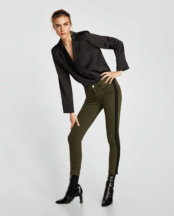 Mujer Culpable Estampado Contraste Raya Lateral Top Corto Joger Pantalones Cool In Summer And Warm In Winter Other