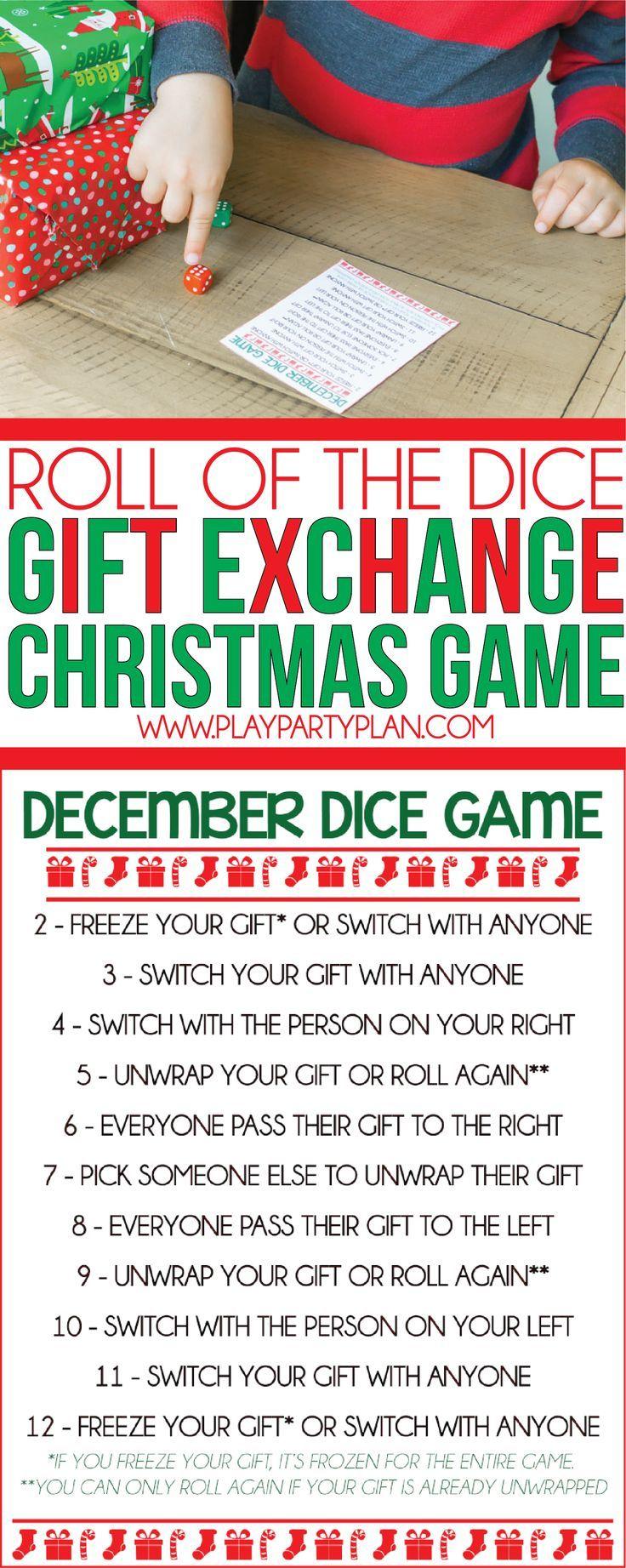 Xmas gift exchange game