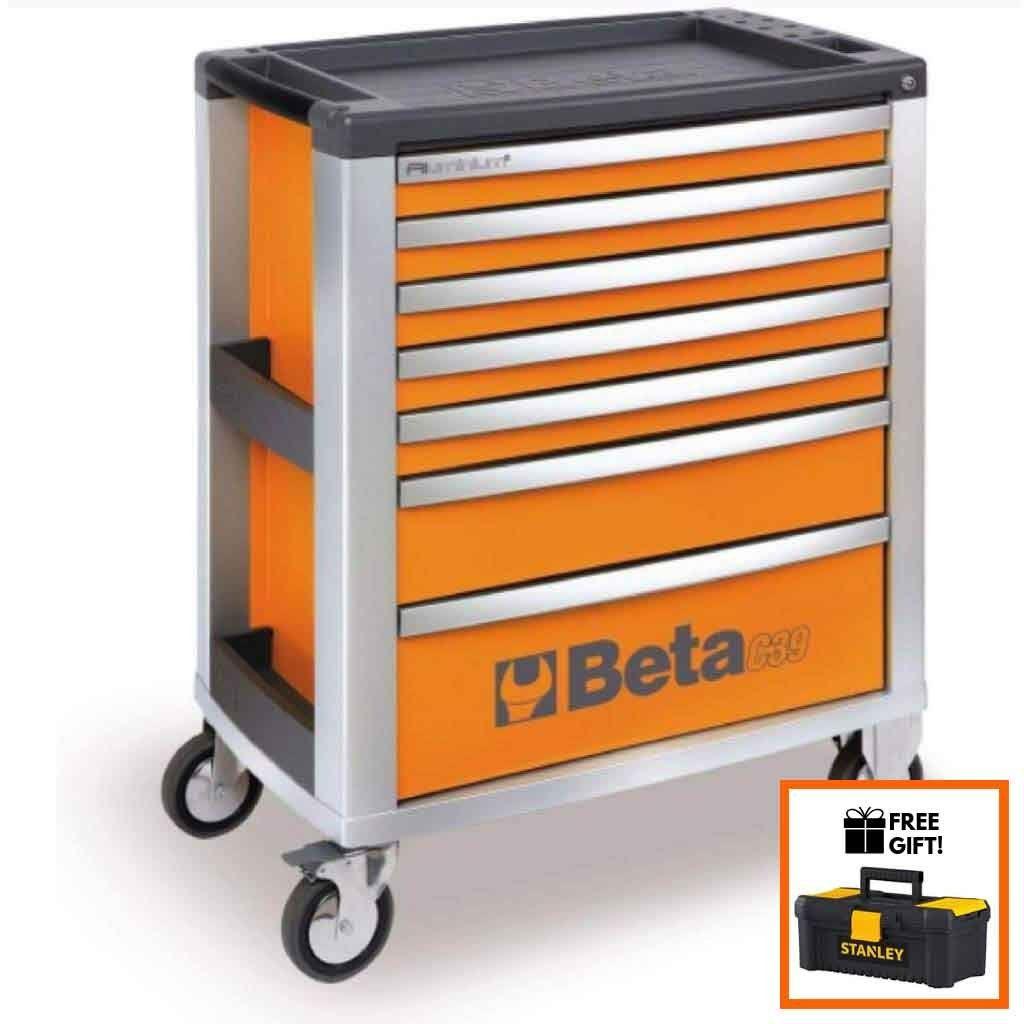 Beta Tools Mobile Roller Cabinet C39 7 Drawer Tool Chest Garage Storage Organization Tool Box