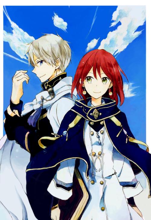 Akagami No Shirayuki Hime Snow White With The Red Hair Zen And Shirayuki Snow White With The Red Hair Akagami No Shirayuki Akagami No