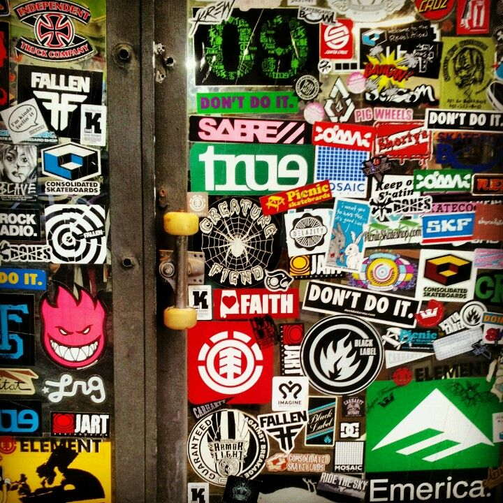 Skate stickers premium wallpaper since the late 60s