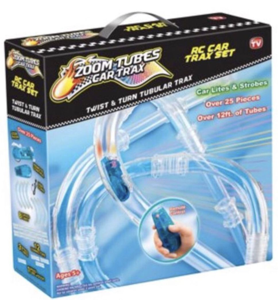 2018 Listed Hottest Toy!! The Zoom Tubes Car Trax, As Seen