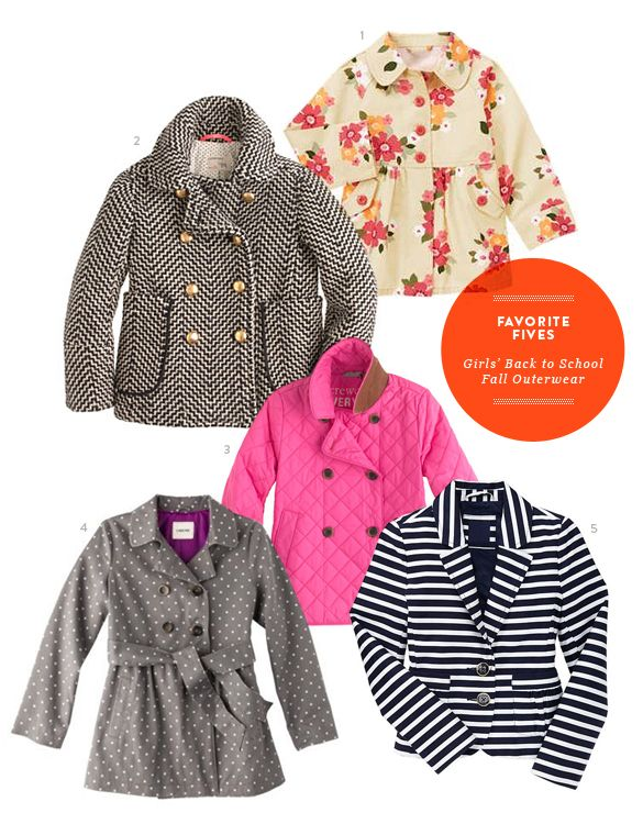 Favorite Five: Fall Girls Outerwear from The Kids' Dept.