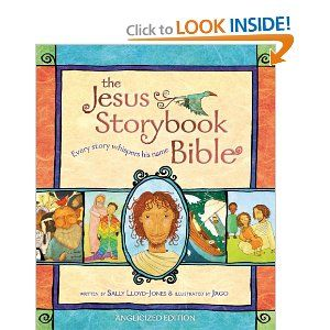 Awesome good bible to read to children for preschool through college. Creates a clear love story of God reaching down and reconnecting to his children.