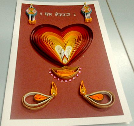 Results Of The First Anniversary Challenges Handmade Diwali Greeting Cards Diwali Greeting Cards Diwali Card Making