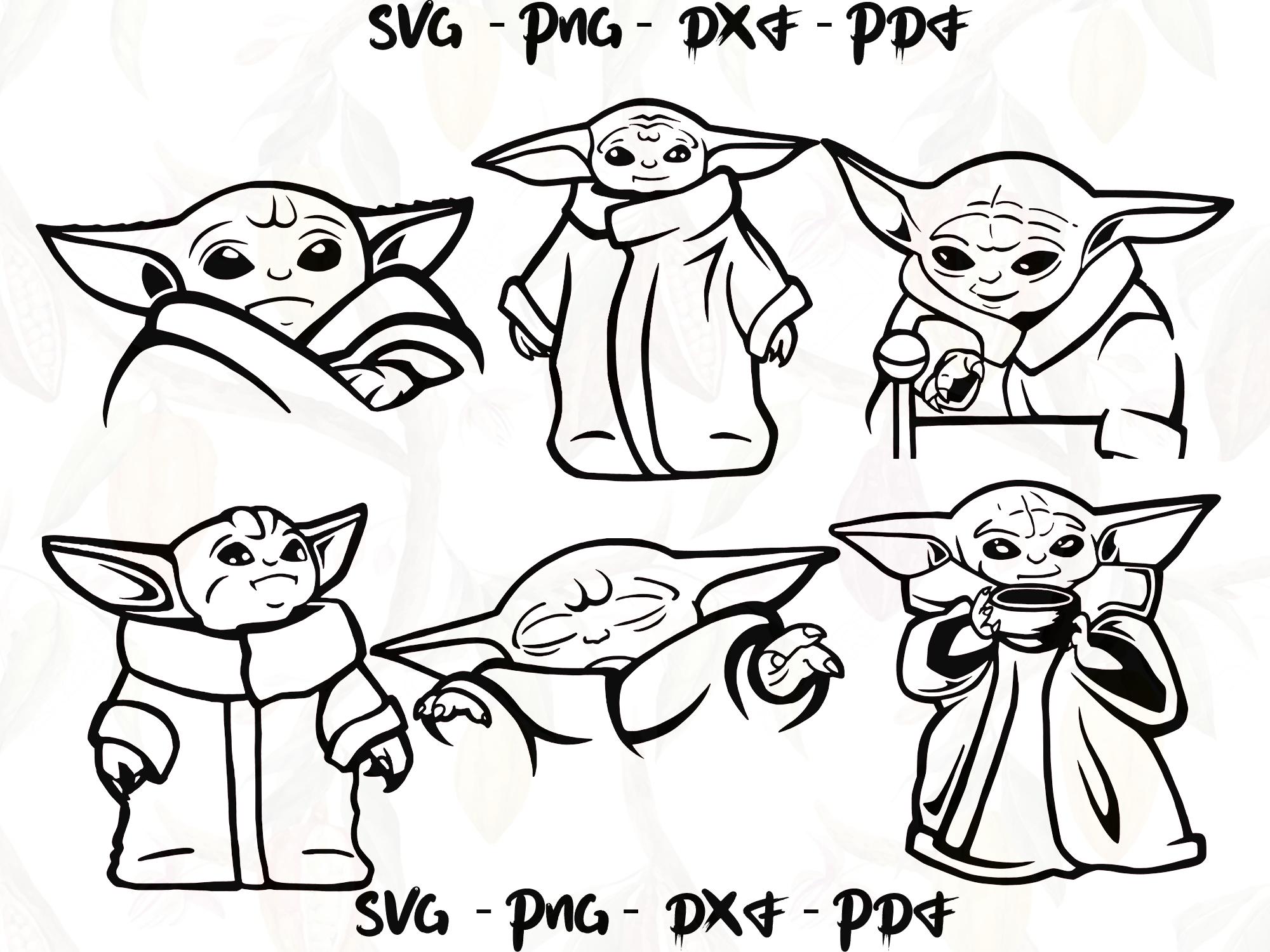 Baby Yoda Svg Bundles Luke Skywalker Svg Star Wars Svg Star Wars T Shirt Star Wars Print Star In 2020 Star Wars Drawings Star Wars Prints Yoda Drawing