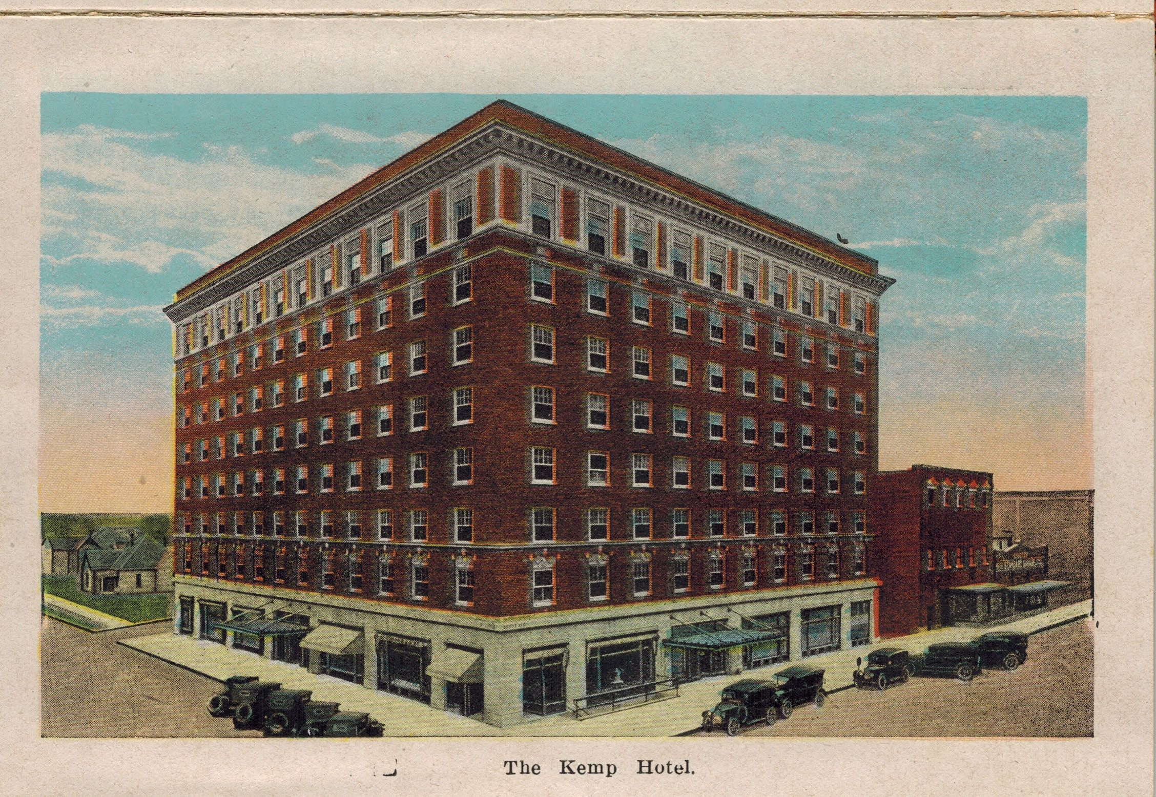 The Kemp Hotel From Wichita Falls Texas Postcard Booklet