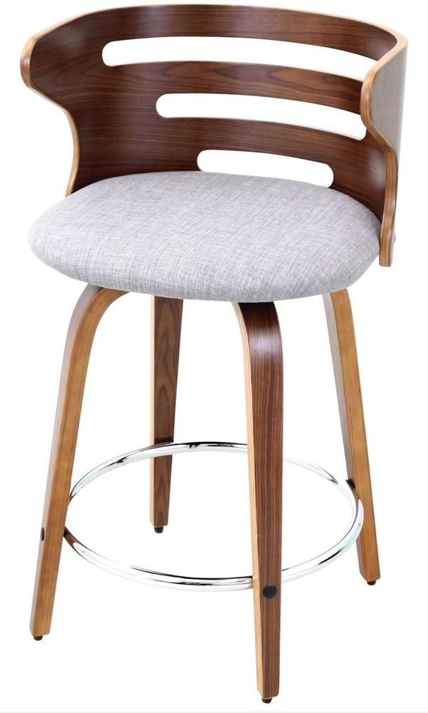 Wondrous 24 Inch Wood Counter Height Swivel Bar Stool Mid Century Beatyapartments Chair Design Images Beatyapartmentscom