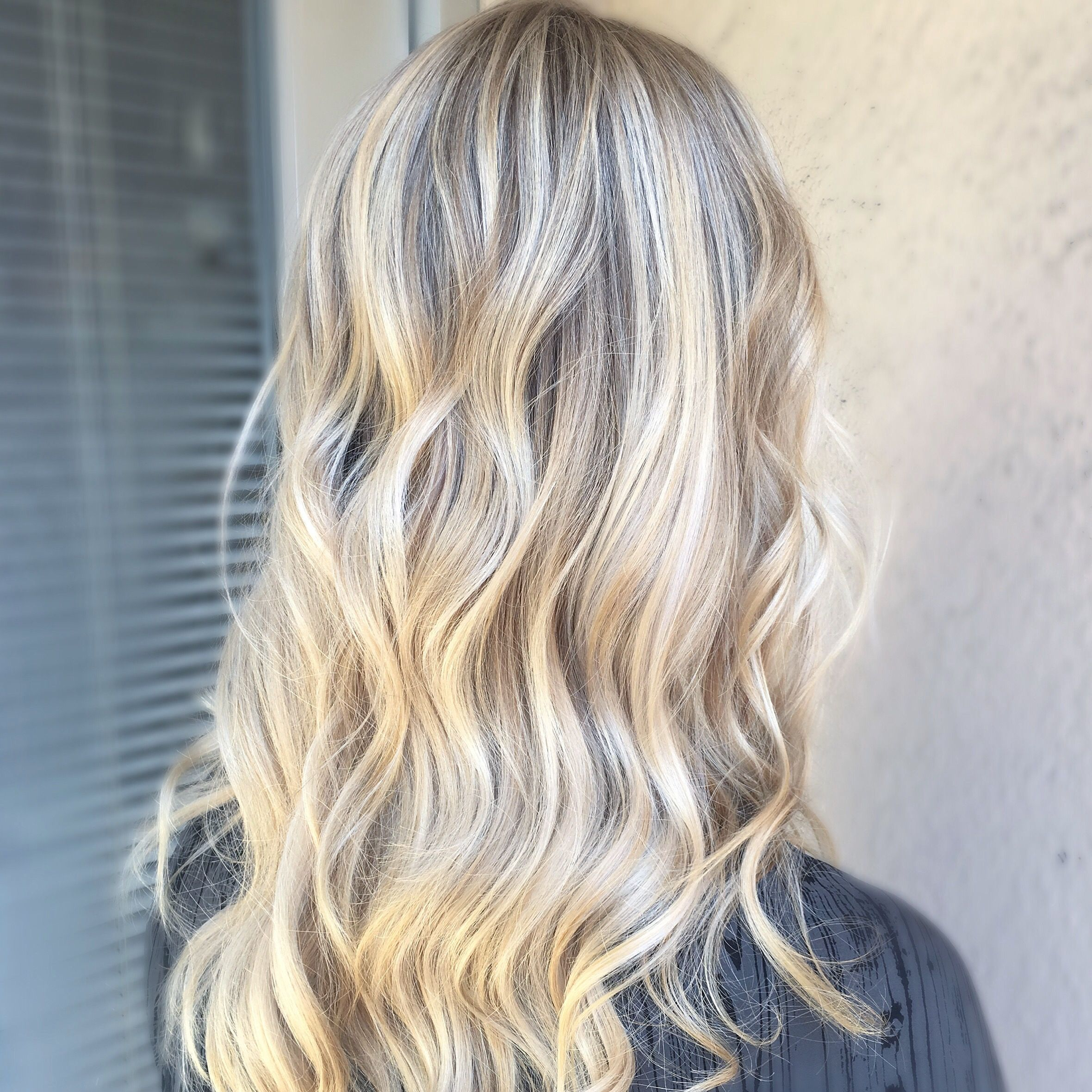 Highlights Baby Lights And Balayage Toned To A Icey Natural