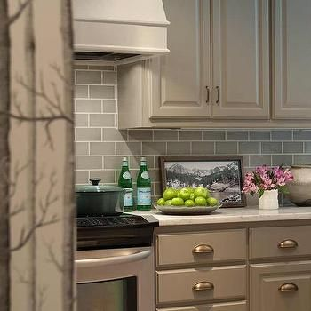 Taupe Kitchen Cabinets With Brass Cup Pulls With Images Taupe Kitchen Taupe Kitchen Cabinets Best Kitchen Cabinets