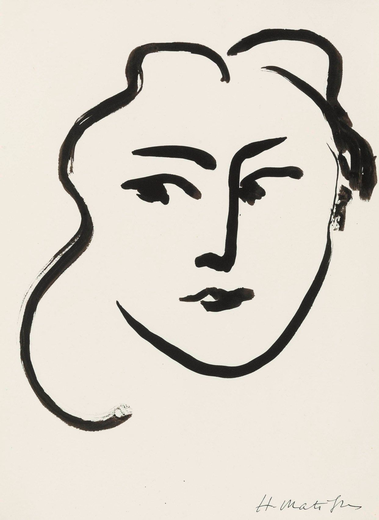 Henri Matisse (1869-1954)  , Tête de femme
