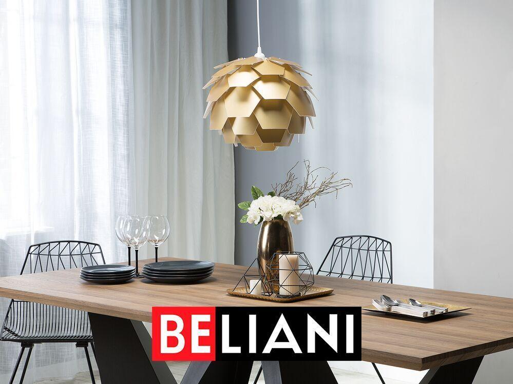 Extravagante Hangelampe In Gold In 2020 Schreibtischlampe Hange Lampe Schreibtischleuchten