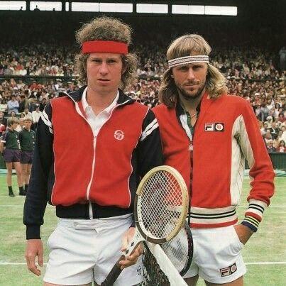 b25e78284b56 John McEnroe and Bjorn Borg - Wimbledon 1980