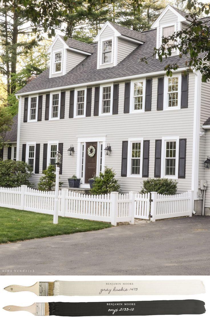 new england farmhouse neutral paint color scheme exterior paint schemesexterior house - Exterior House Color Schemes