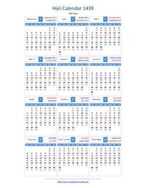 Hijri Calendar 1439 Pendidikan Kutipan