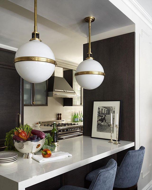 Superior Love This Shot Of The McCarren Large Globe Pendants By Ralph Lauren In  @emmyrossumu0027s Kitchen