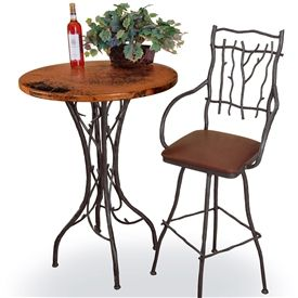 Pictured Here Is The South Fork Counter Table With A 30 Inch Round