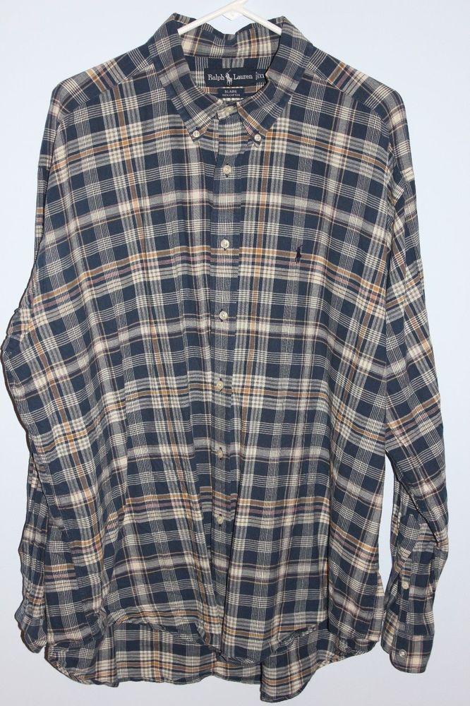 481c4fdea2a XXL Ralph Lauren Blaire Button Down Long Sleeve Plaid Casual Dress Shirt  2XL  RalphLauren  ButtonFront