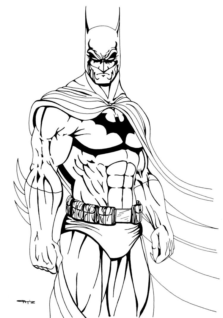 Batman coloring pages dc