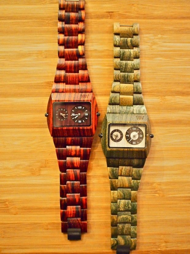 WeWOOD Jupiter Watch (Brown & Army): $135