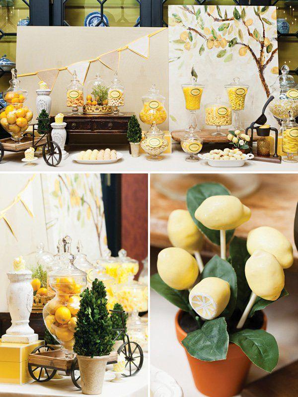 lemon tuscany inspired breakfast bridal shower