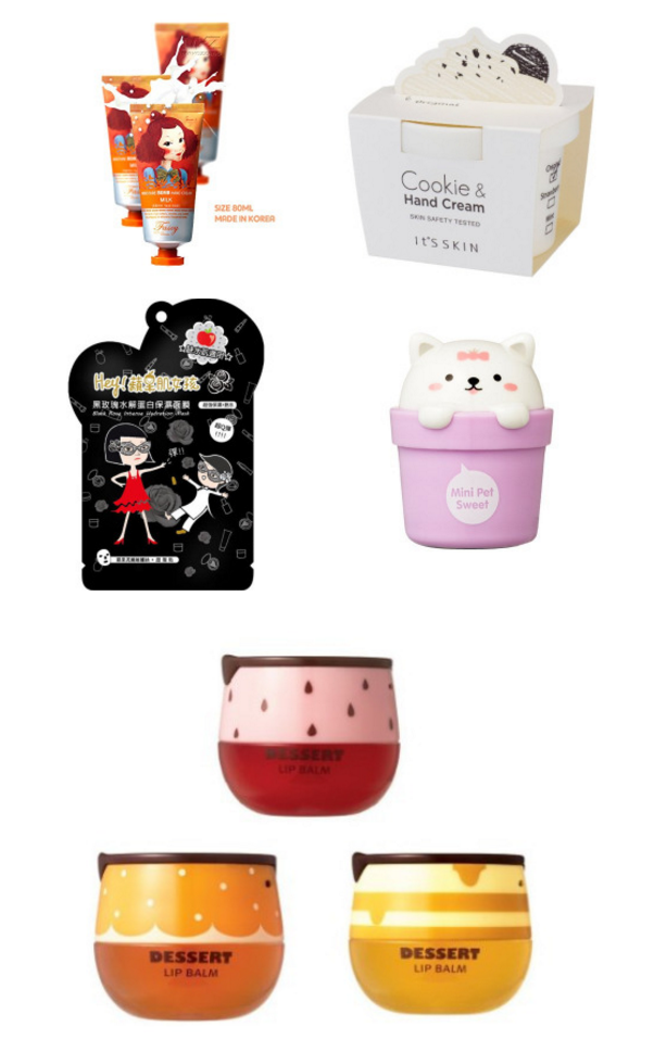 I have been seriously crushing on Korean skin care products and makeup lately. I find the ones with super cute packaging or tasty scents and flavors especially dreamy. Here are a few of my favorites currently on my wish list waiting for a day with a little extra spending money.