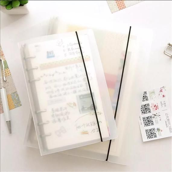 Simple Planner Clear A5 A6 A7 Binder Agenda Stickers Storage
