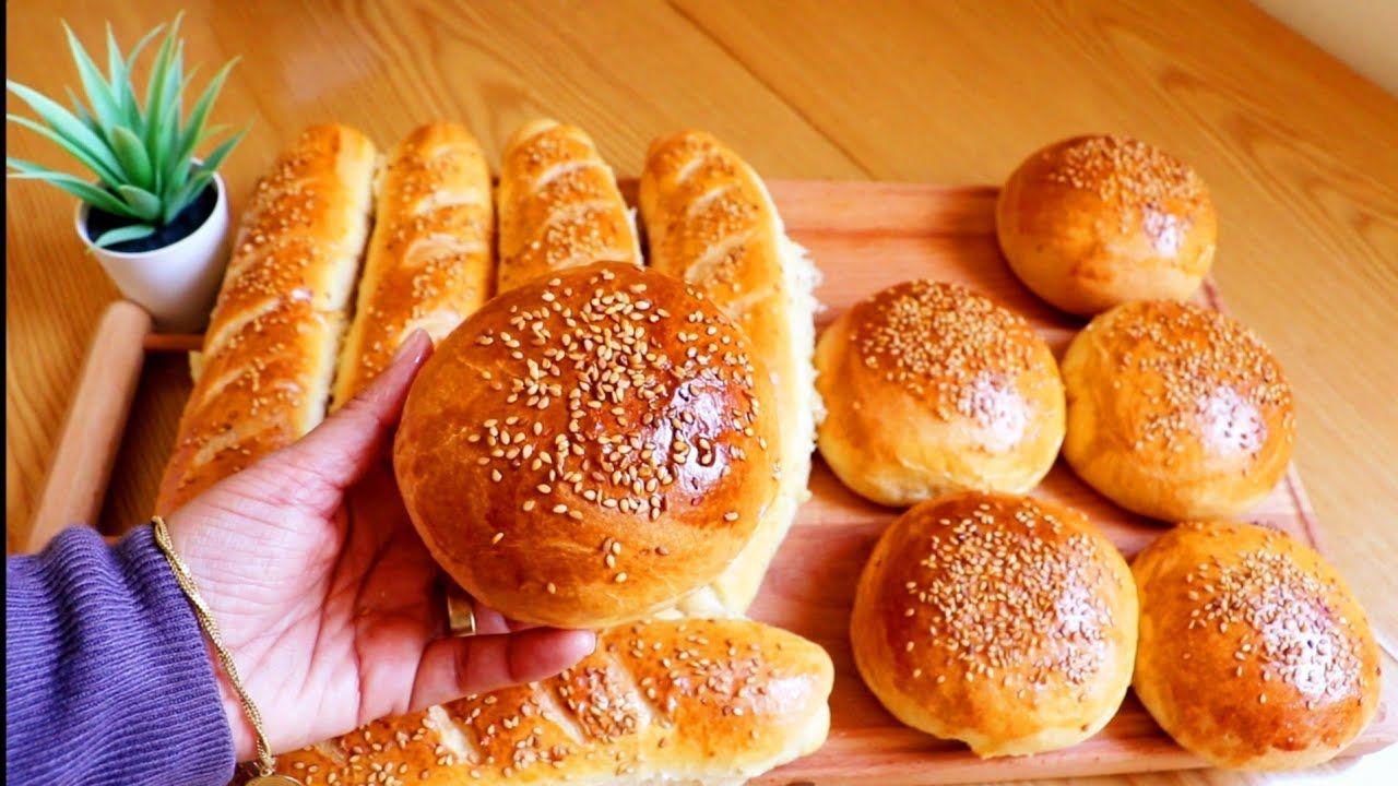 العجينة الذهبية بدون بيض لخبز البرجر والفينو Cooking Food Bread Rolls