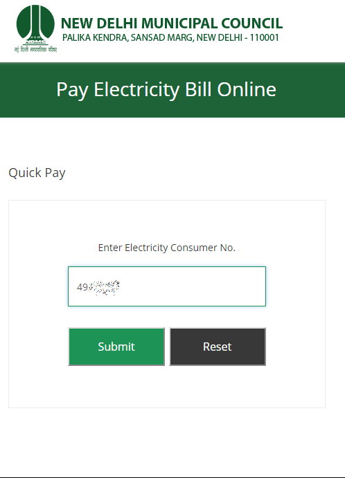 Ndmc Electricity Bill Payment Online With Images Electricity Bill Payment Electricity Bill Quick Pay