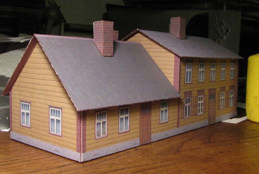 Paper model houses to print house best art for Building model houses