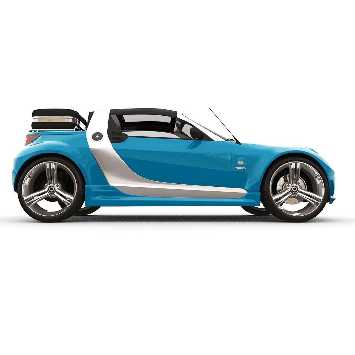 Smart Roadster Brabus Traveler 3d Model Autos Coches Coches De