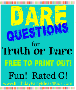 Good clean dares for truth or dare