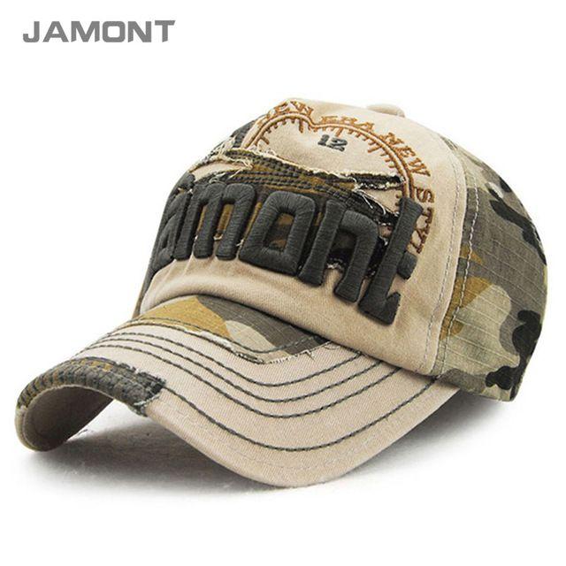 JAMONT  Vintage Camuflaje Gorra de Béisbol 2017 Casquillos Del Snapback  Sombreros para Hombres y Mujeres Z-3123 5696a995cd3