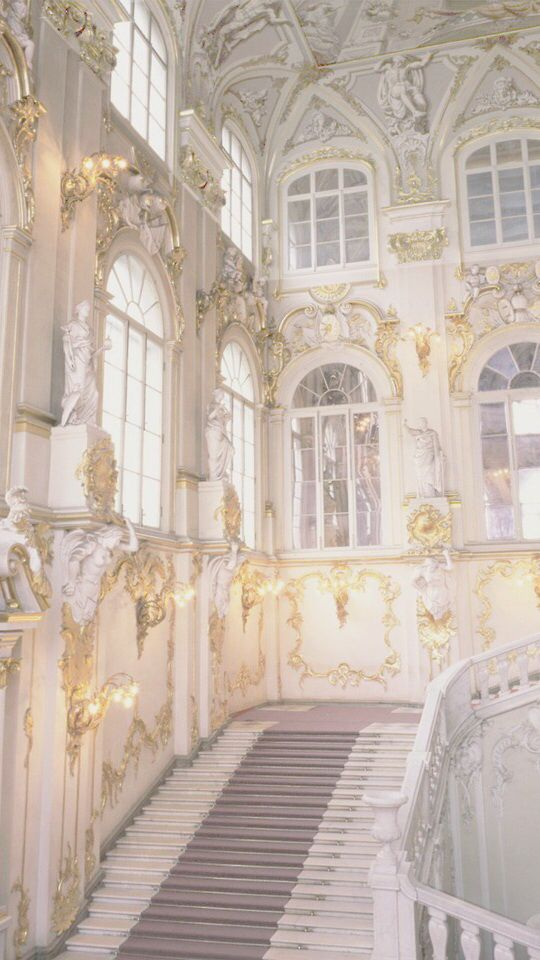 Eternal Halls Of White And Gold Baroque Architecture