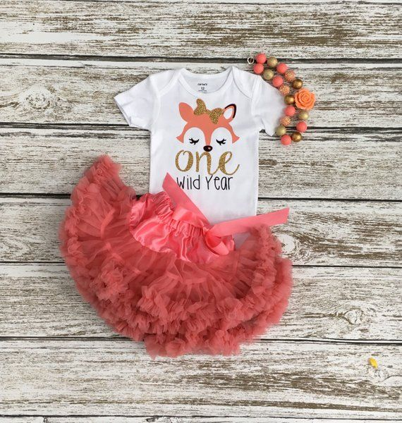Fox First Birthday, First Birthday Outfit Girl, One Wild Year, 1st Birthday Outfit, 1st Birthday, Birthday Outfit, Gift, Woodland Theme #birthdayoutfit