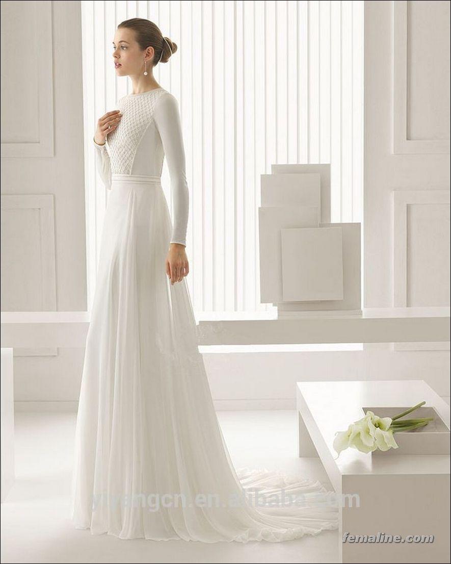 222 Beautiful Long Sleeve Wedding Dresses Wedding Dress Long Sleeve Gothic Wedding Dress Rosa Clara Wedding Dresses [ 1106 x 885 Pixel ]