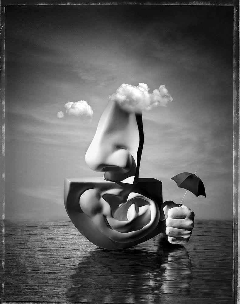 Paul Biddle Surrealist Photography Cloudy Island | Psycho Art ...