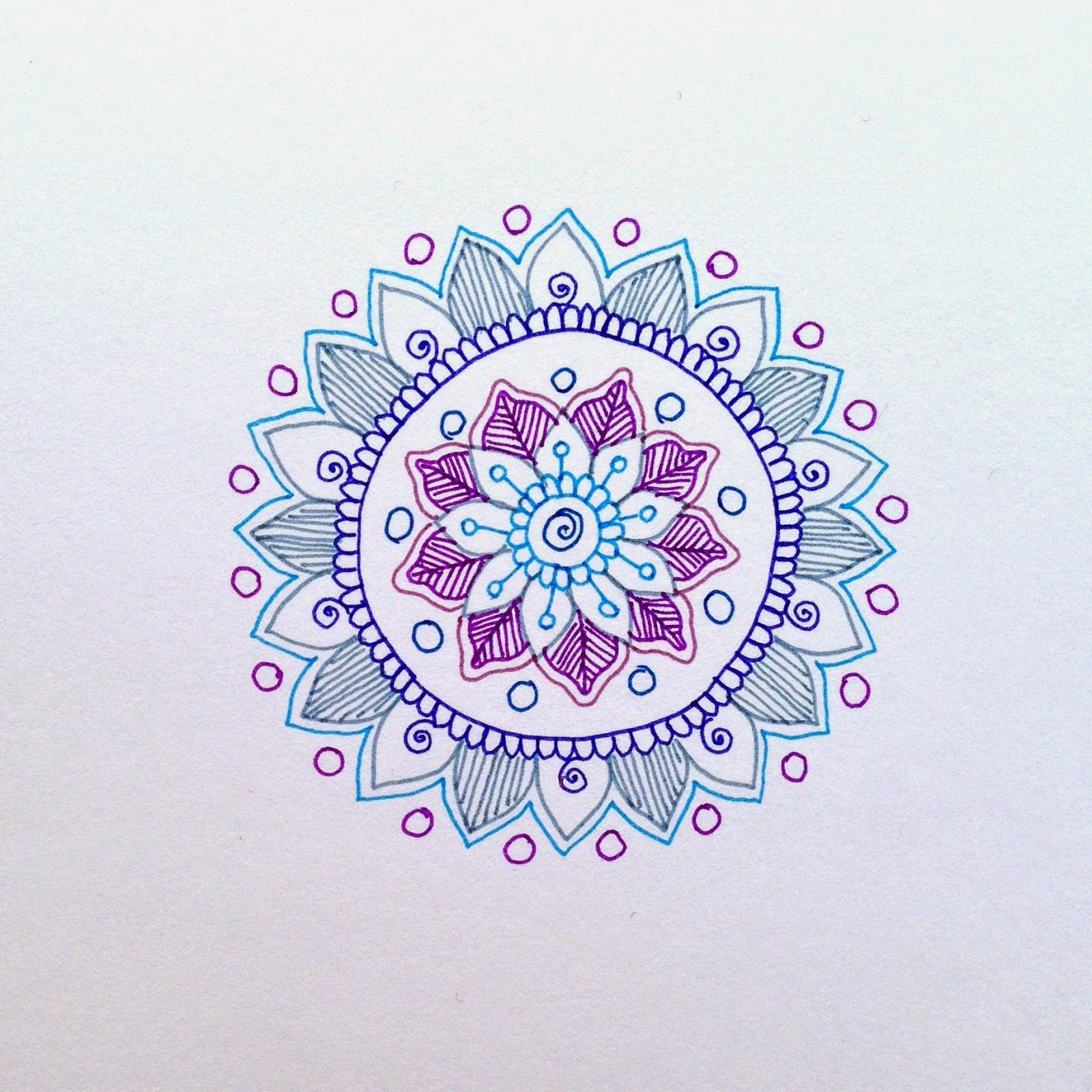 Magamerlina Mehndi Inspired Mandala Tutorial Make Them On Paper Or
