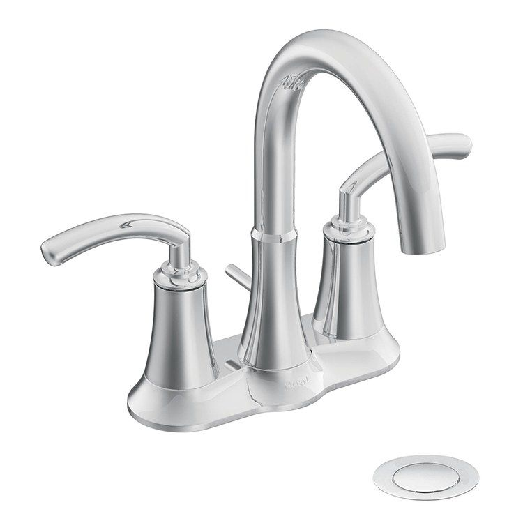 Two Handle High Arc Bathroom Faucet In 2020 Bathroom Faucets