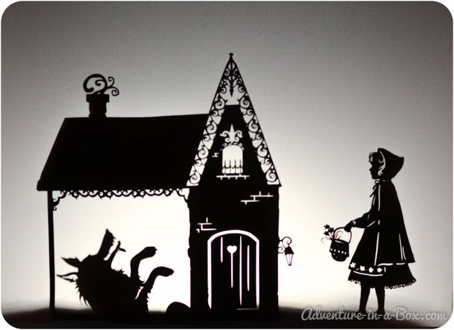 Little Red Riding Hood Shadow Puppet Printables