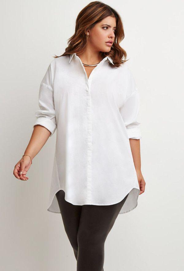 el precio más bajo a9325 4fafc Moda para gorditas primavera-verano 2015 camisa oversize ...