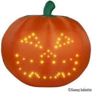 Gemmy Lightsync Technology Singing Pumpkins Inflatable Pumpkin Halloween Yard Decorations