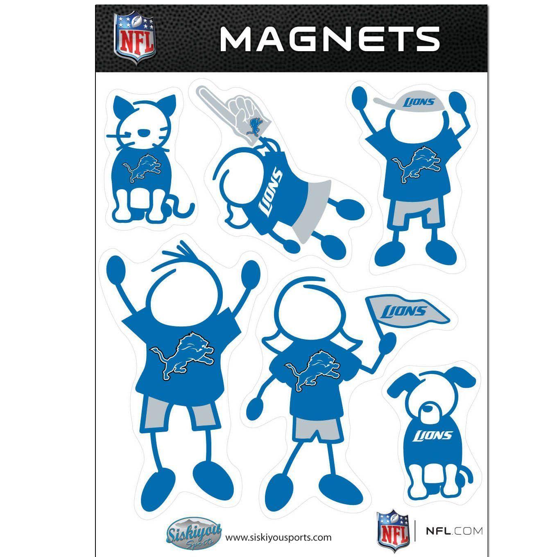 Detroit Lions Family Magnet Set | Products | Pinterest