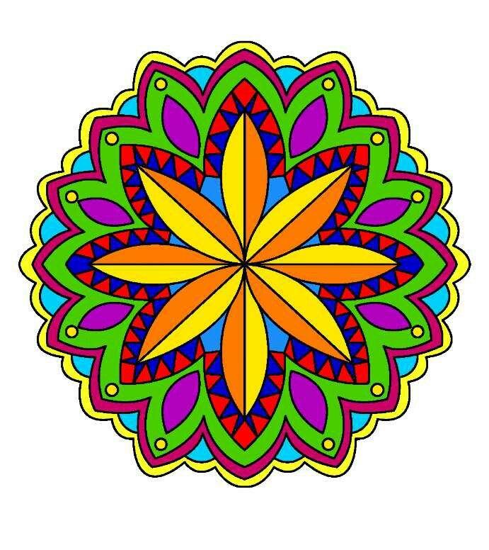 Colores fuertes  Mis mandalas  Mandalas y Colores